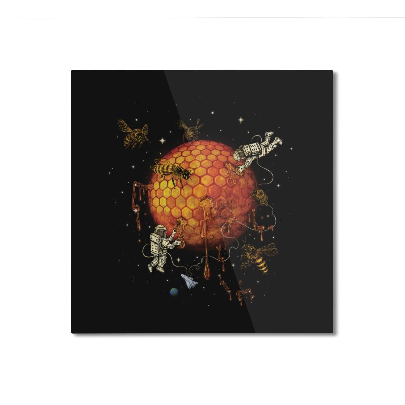 Honey Moon Home Mounted Aluminum Print by Made With Awesome