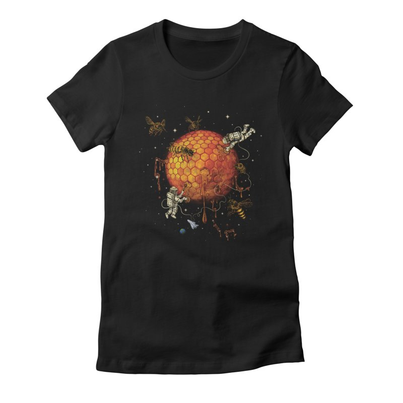 Honey Moon Women's Fitted T-Shirt by Made With Awesome