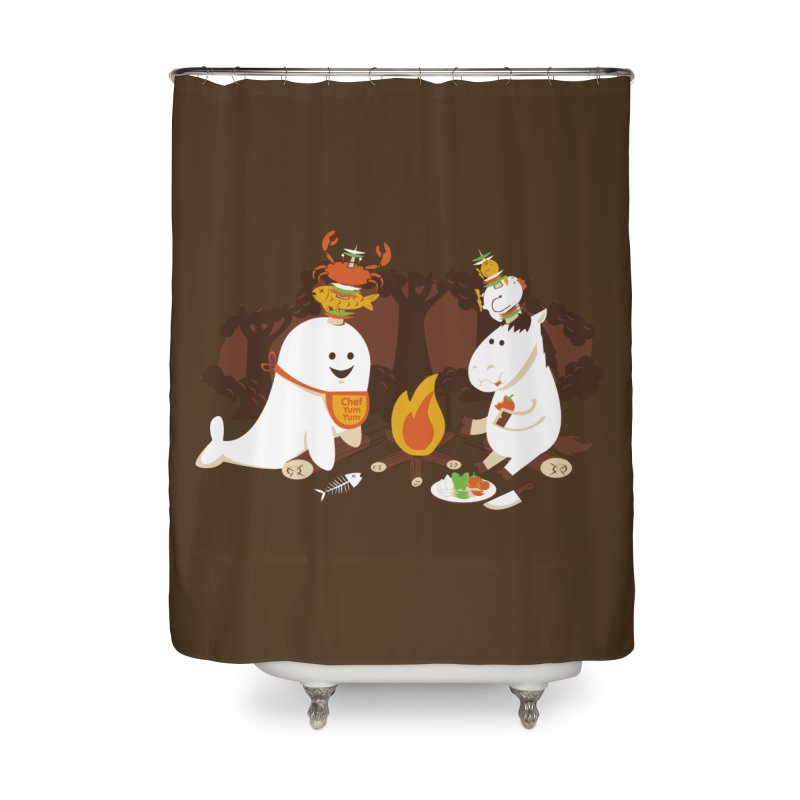 Horn Kabobs Home Shower Curtain by Made With Awesome
