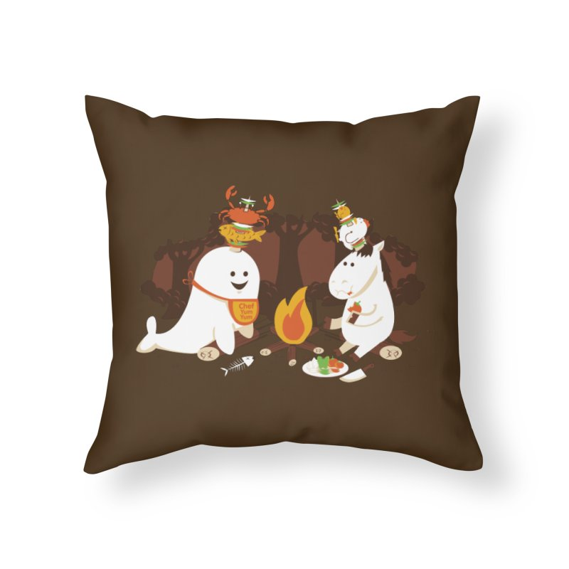 Horn Kabobs Home Throw Pillow by Made With Awesome