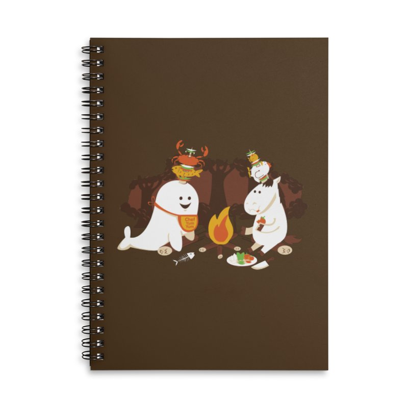 Horn Kabobs Accessories Lined Spiral Notebook by Made With Awesome