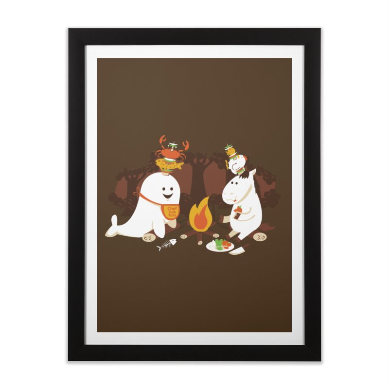 Horn Kabobs Home Framed Fine Art Print by Made With Awesome