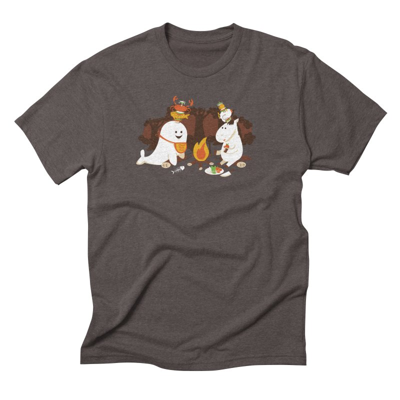 Horn Kabobs Men's Triblend T-Shirt by Made With Awesome