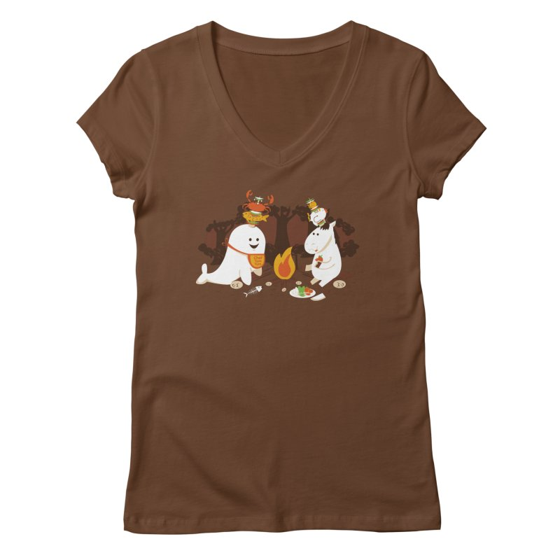 Horn Kabobs Women's Regular V-Neck by Made With Awesome