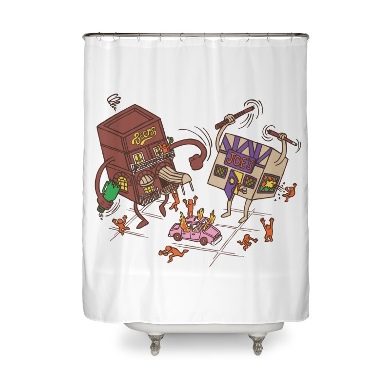 Bar Fight Home Shower Curtain by Made With Awesome