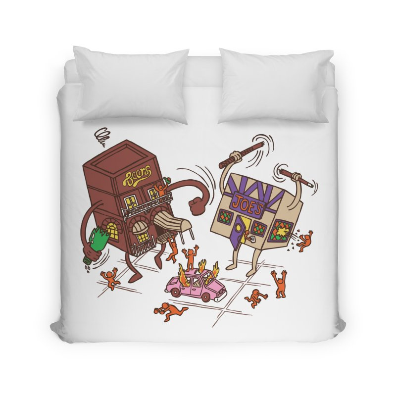 Bar Fight Home Duvet by Made With Awesome