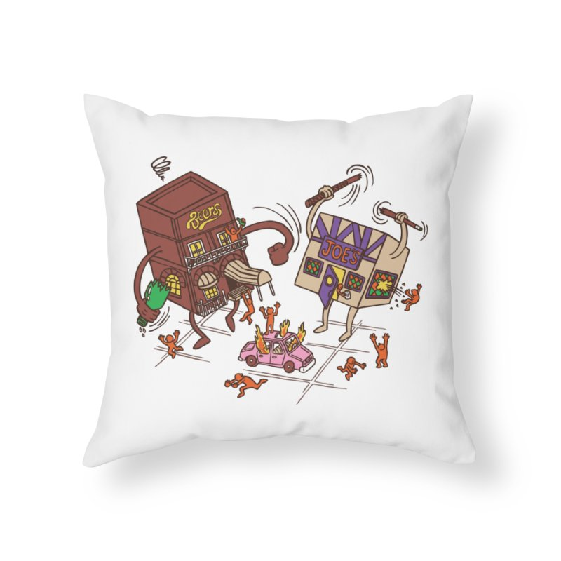 Bar Fight Home Throw Pillow by Made With Awesome