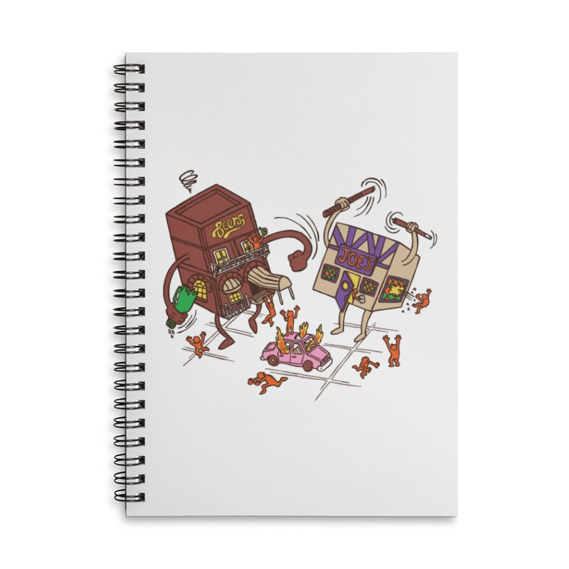 Bar Fight Accessories Lined Spiral Notebook by Made With Awesome