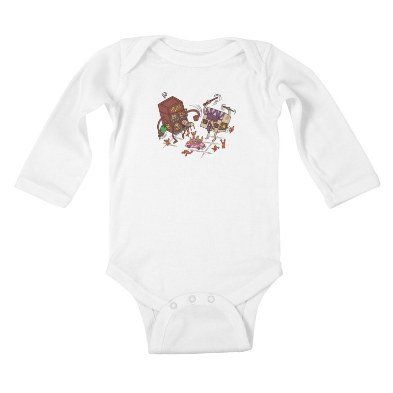 Bar Fight Kids Baby Longsleeve Bodysuit by Made With Awesome