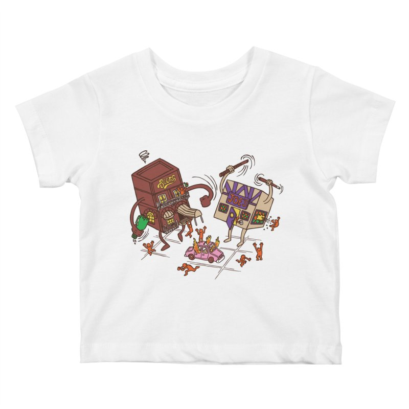 Bar Fight Kids Baby T-Shirt by Made With Awesome