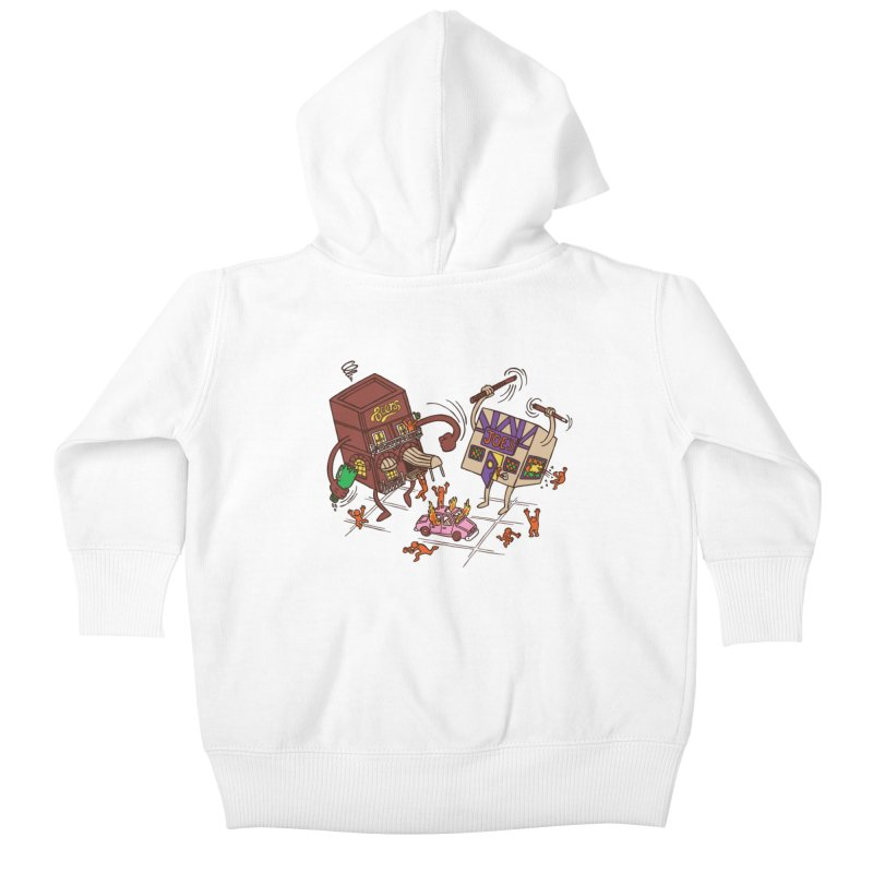 Bar Fight Kids Baby Zip-Up Hoody by Made With Awesome