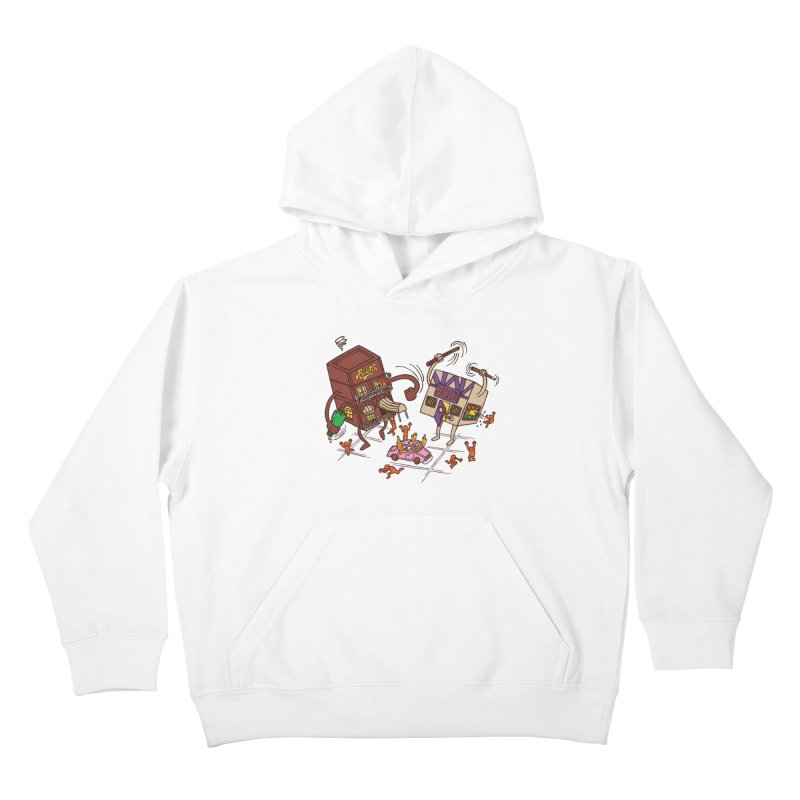 Bar Fight Kids Pullover Hoody by Made With Awesome
