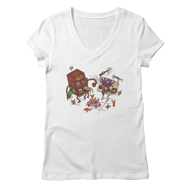 Bar Fight Women's Regular V-Neck by Made With Awesome