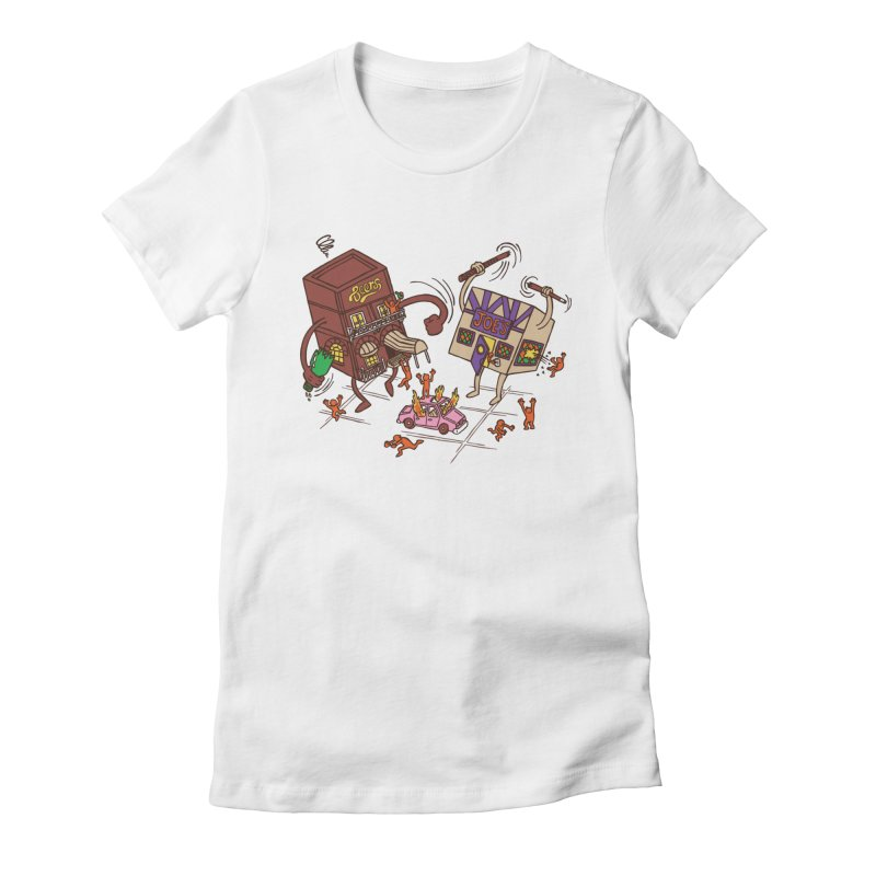 Bar Fight Women's Fitted T-Shirt by Made With Awesome