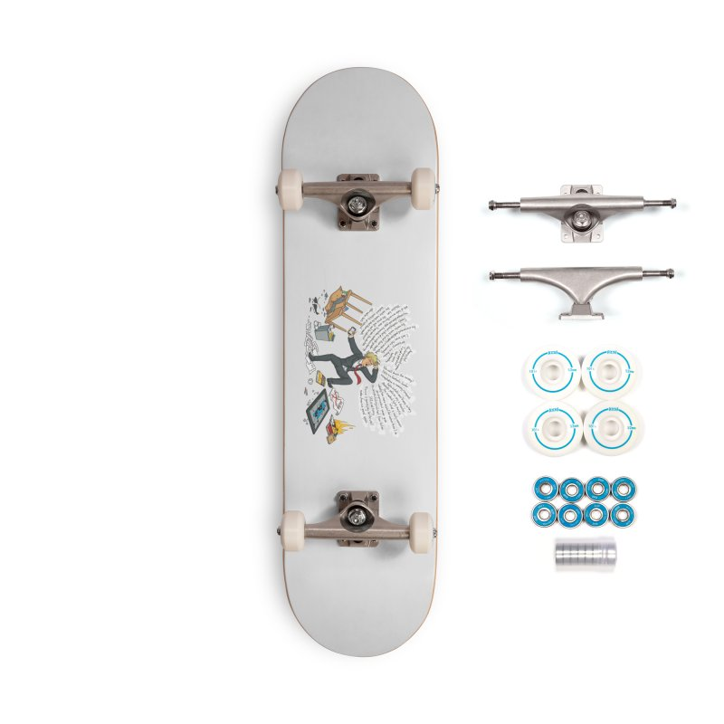 Little Handsy in a Strong Fit Accessories Complete - Basic Skateboard by Made With Awesome