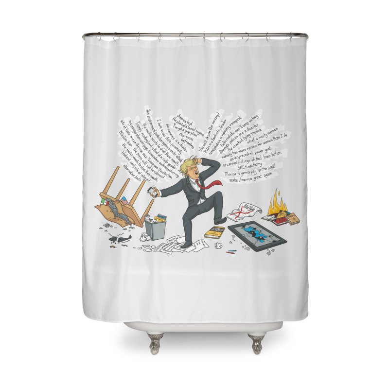 Little Handsy in a Strong Fit Home Shower Curtain by Made With Awesome