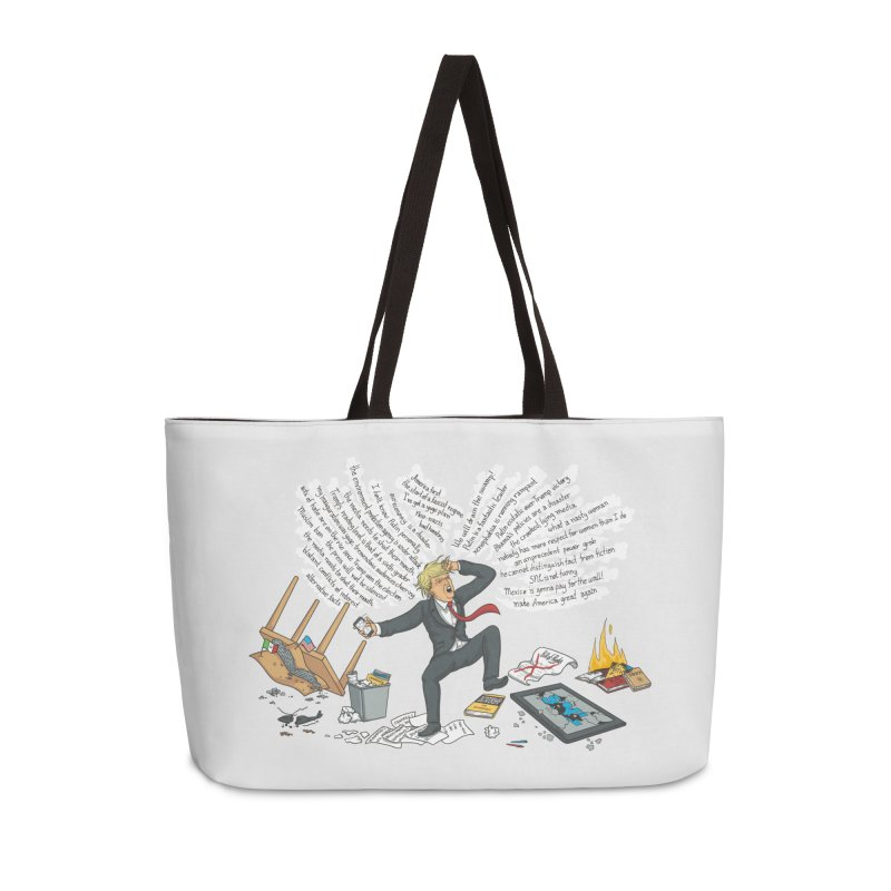 Little Handsy in a Strong Fit Accessories Weekender Bag Bag by Made With Awesome