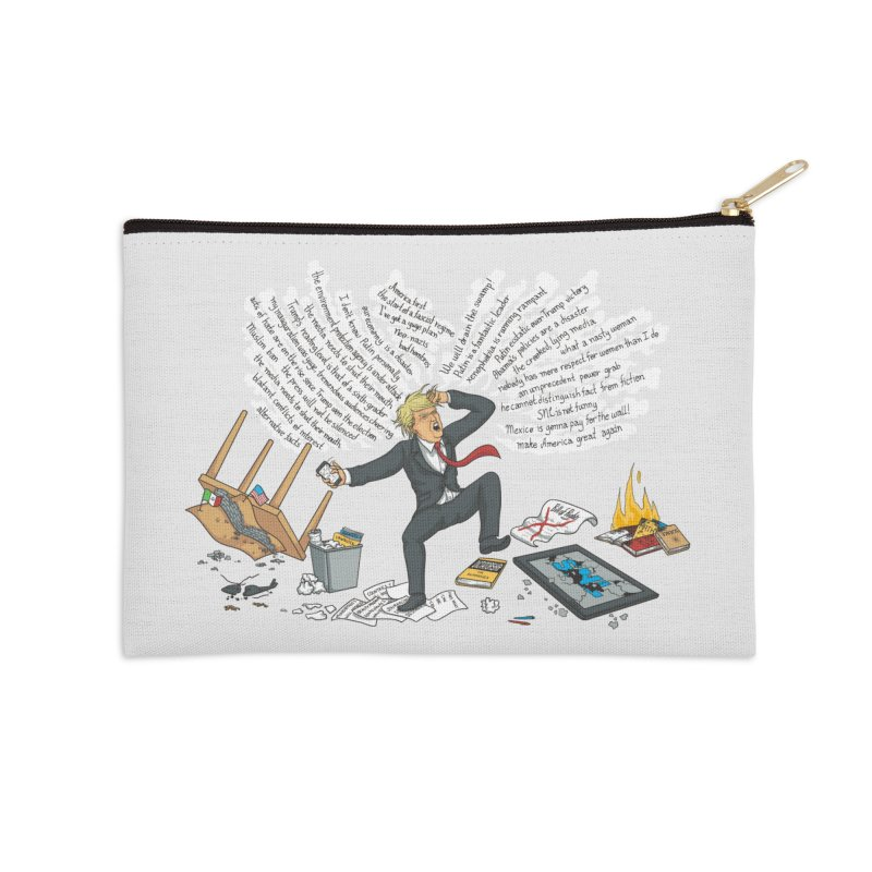 Little Handsy in a Strong Fit Accessories Zip Pouch by Made With Awesome