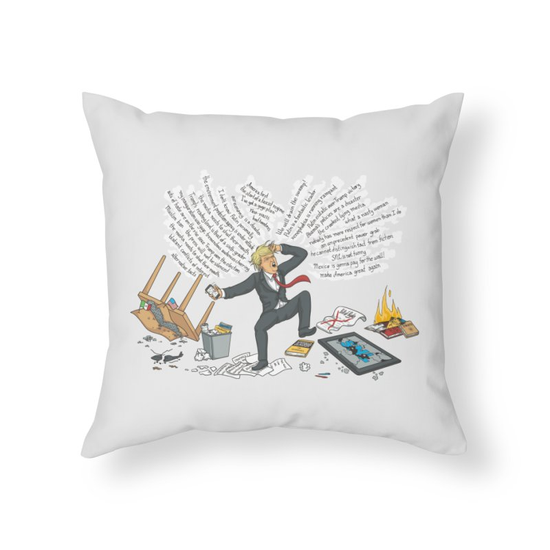 Little Handsy in a Strong Fit Home Throw Pillow by Made With Awesome