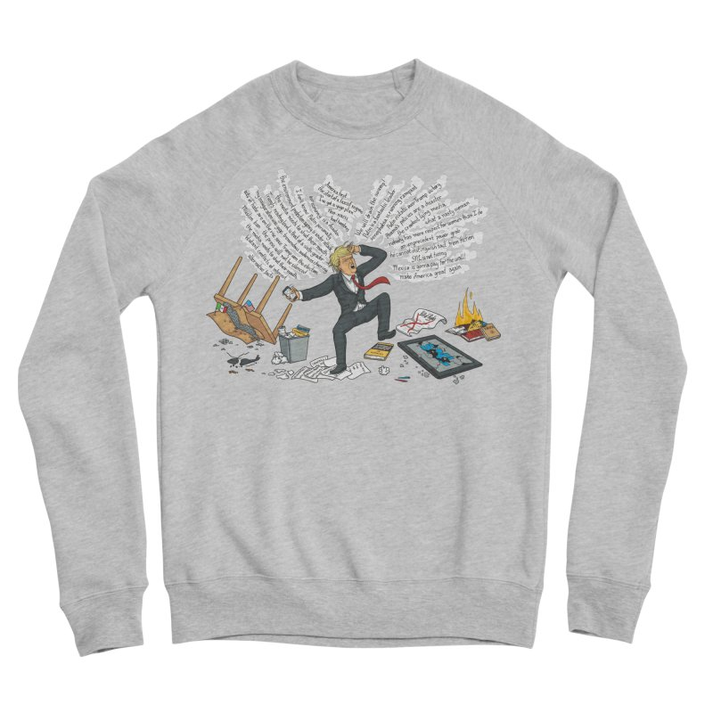 Little Handsy in a Strong Fit Men's Sponge Fleece Sweatshirt by Made With Awesome