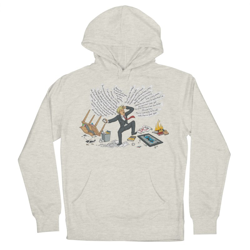 Little Handsy in a Strong Fit Women's French Terry Pullover Hoody by Made With Awesome