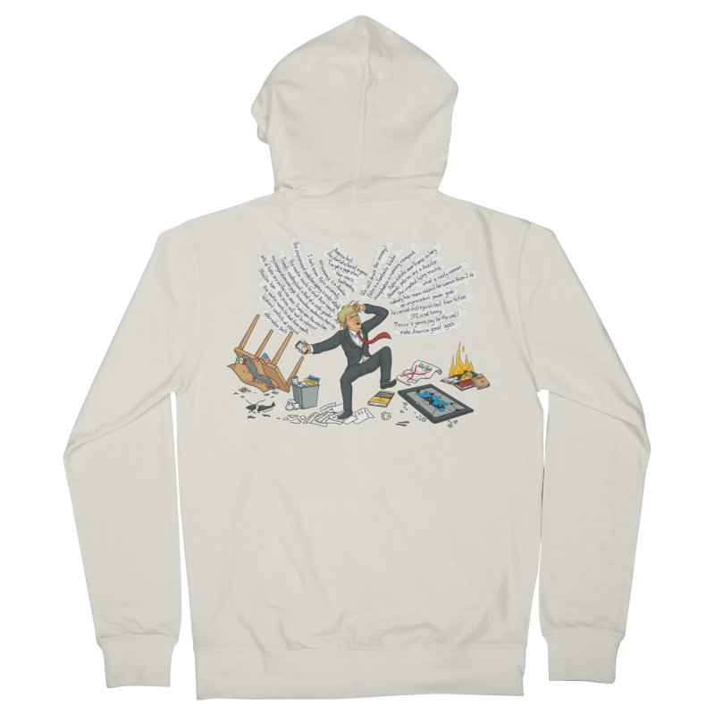 Little Handsy in a Strong Fit Men's French Terry Zip-Up Hoody by Made With Awesome