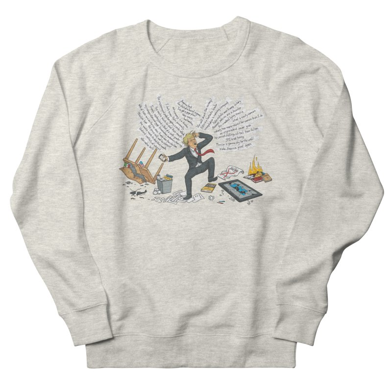 Little Handsy in a Strong Fit Men's French Terry Sweatshirt by Made With Awesome
