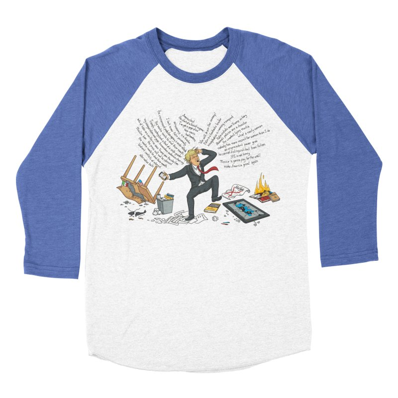 Little Handsy in a Strong Fit Women's Baseball Triblend Longsleeve T-Shirt by Made With Awesome