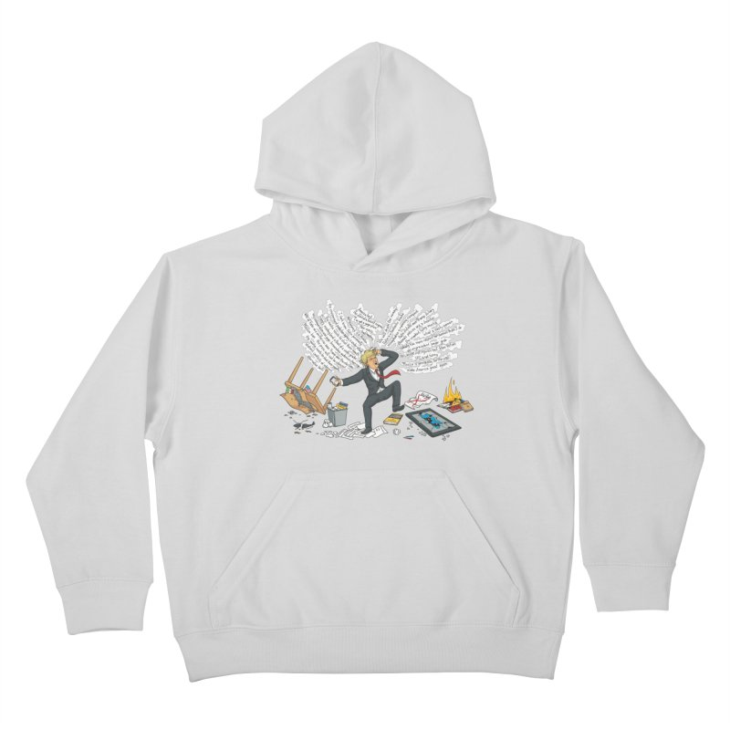 Little Handsy in a Strong Fit Kids Pullover Hoody by Made With Awesome