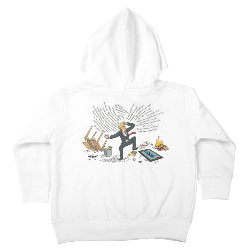 Little Handsy in a Strong Fit Kids Toddler Zip-Up Hoody by Made With Awesome