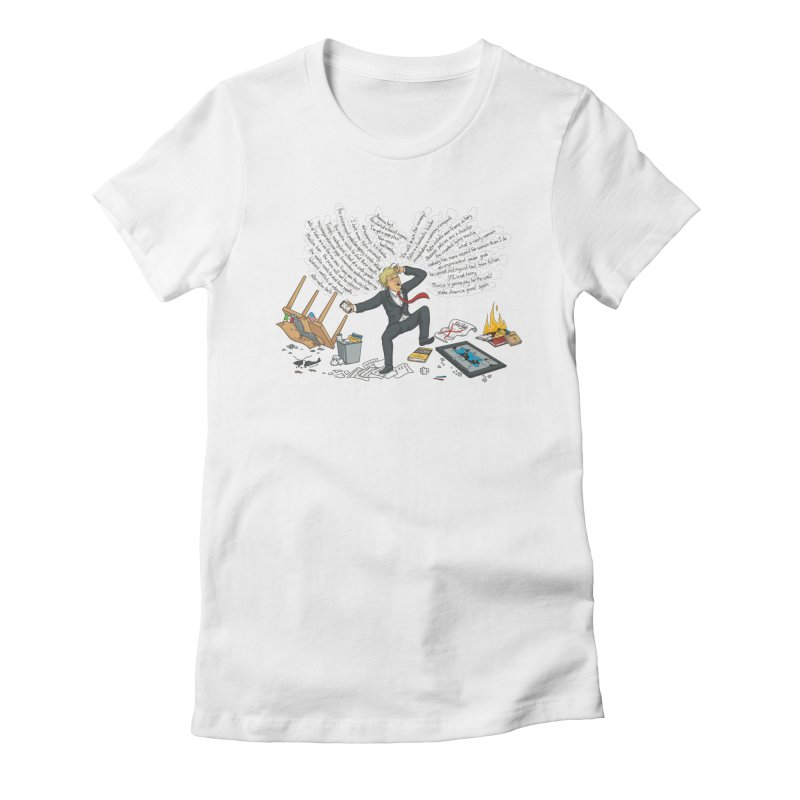 Little Handsy in a Strong Fit Women's Fitted T-Shirt by Made With Awesome