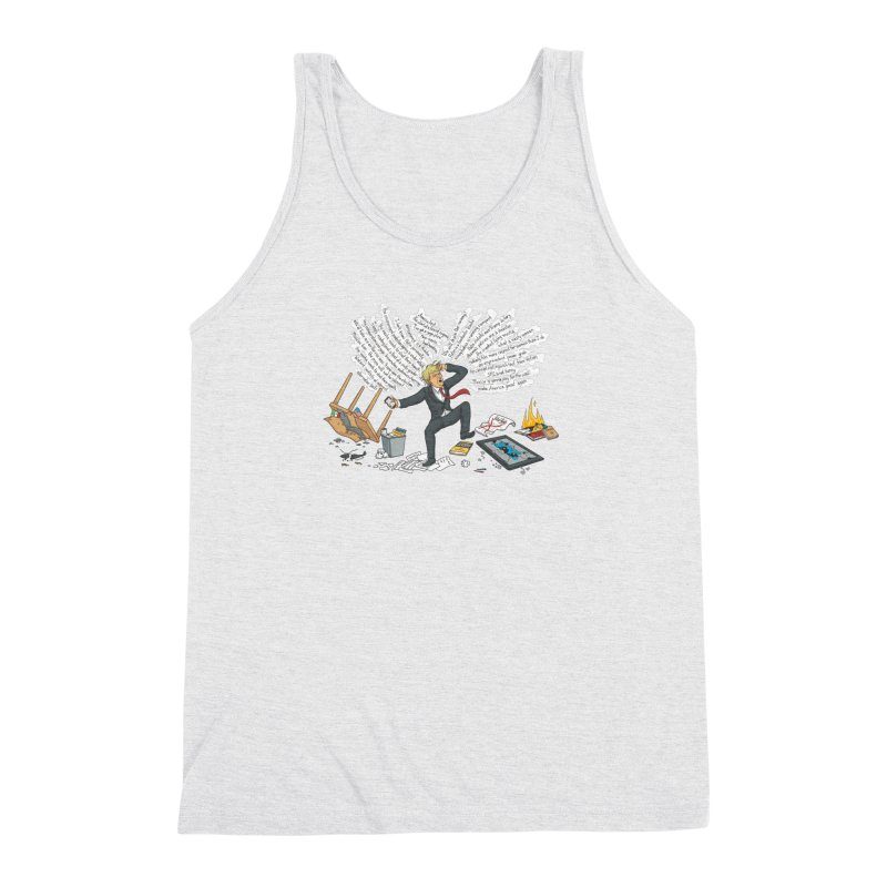 Little Handsy in a Strong Fit Men's Triblend Tank by Made With Awesome