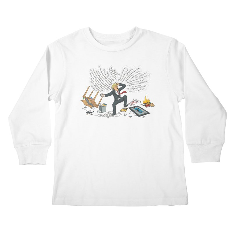 Little Handsy in a Strong Fit Kids Longsleeve T-Shirt by Made With Awesome