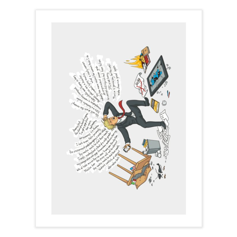 Little Handsy in a Strong Fit Home Fine Art Print by Made With Awesome