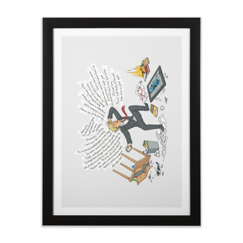 Little Handsy in a Strong Fit Home Framed Fine Art Print by Made With Awesome