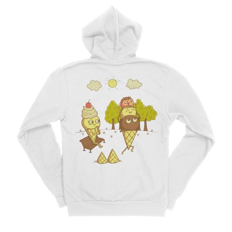 Yummyback Ride Women's Sponge Fleece Zip-Up Hoody by Made With Awesome