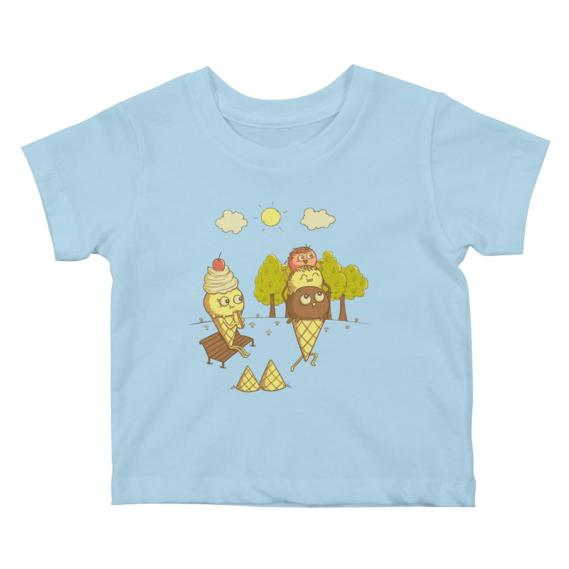 Yummyback Ride Kids Baby T-Shirt by Made With Awesome