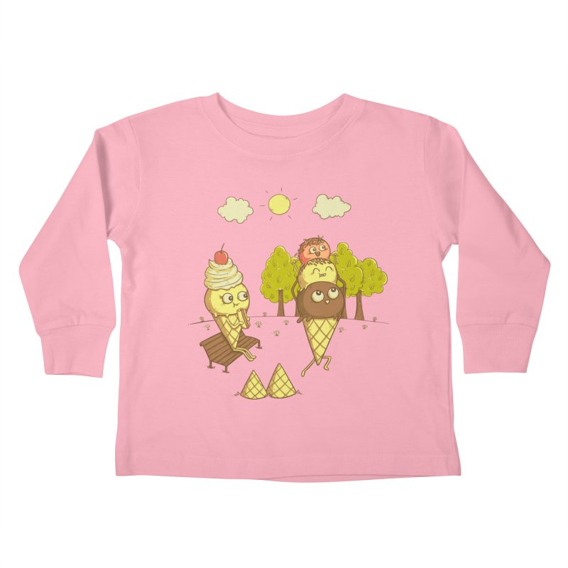 Yummyback Ride Kids Toddler Longsleeve T-Shirt by Made With Awesome