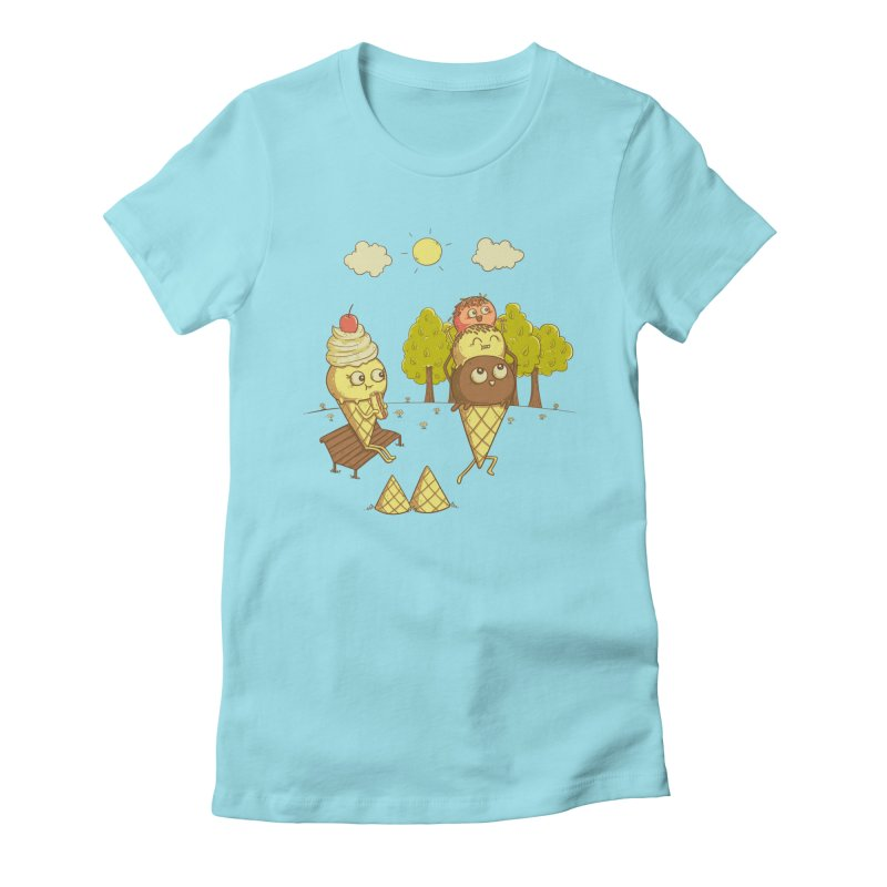 Yummyback Ride Women's Fitted T-Shirt by Made With Awesome