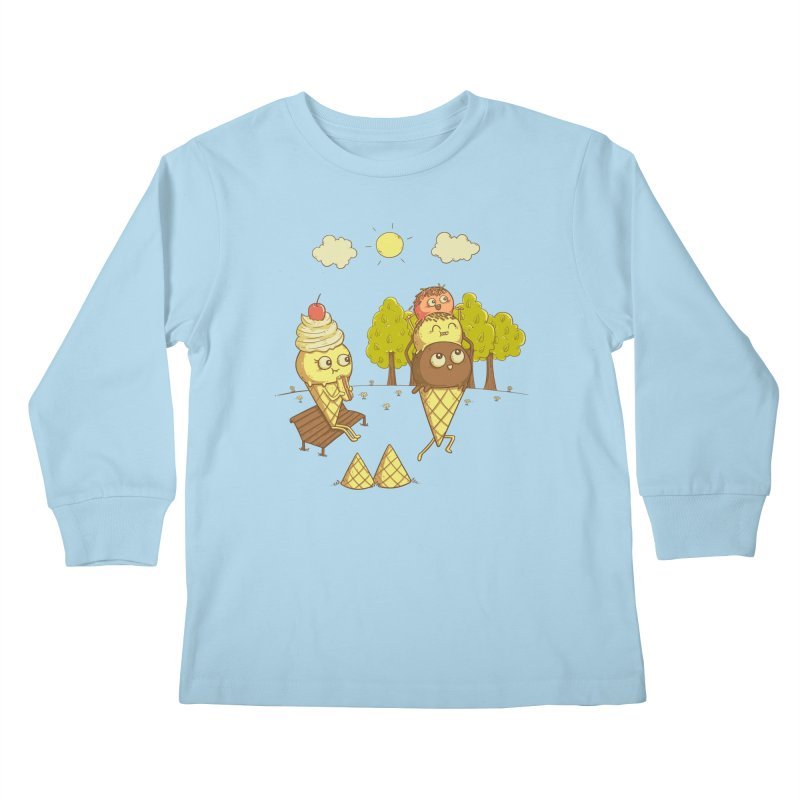 Yummyback Ride Kids Longsleeve T-Shirt by Made With Awesome