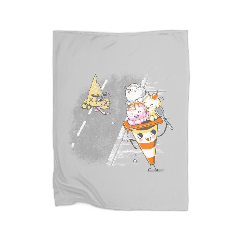 Traffic Cone's Sweet Revenge Home Fleece Blanket Blanket by Made With Awesome