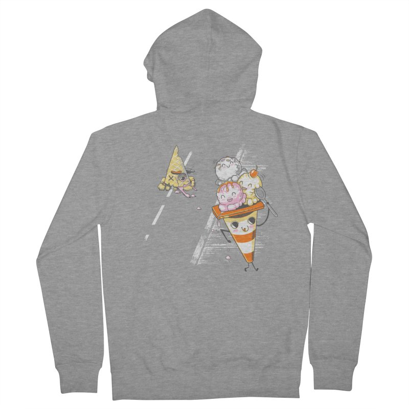 Traffic Cone's Sweet Revenge Women's French Terry Zip-Up Hoody by Made With Awesome