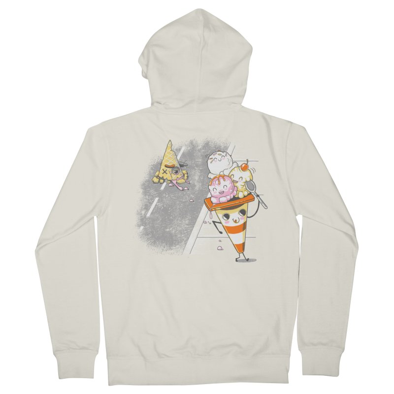 Traffic Cone's Sweet Revenge Men's French Terry Zip-Up Hoody by Made With Awesome