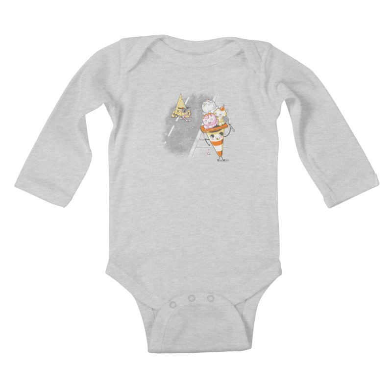 Traffic Cone's Sweet Revenge Kids Baby Longsleeve Bodysuit by Made With Awesome
