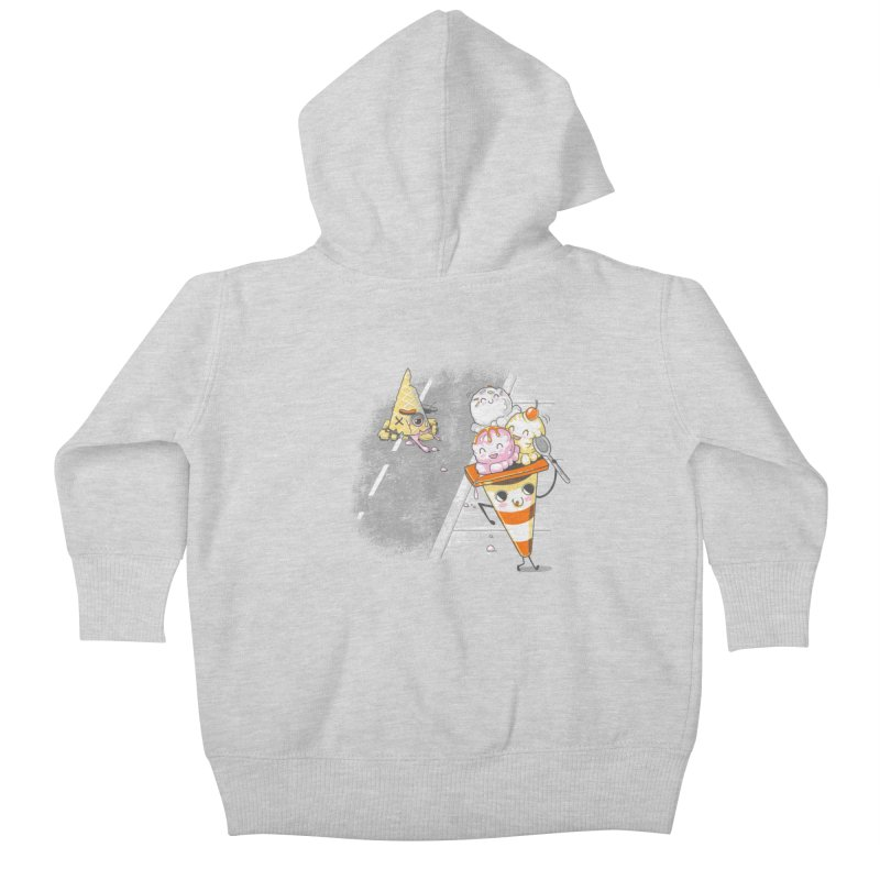 Traffic Cone's Sweet Revenge Kids Baby Zip-Up Hoody by Made With Awesome