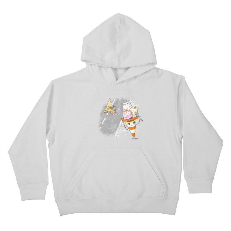 Traffic Cone's Sweet Revenge Kids Pullover Hoody by Made With Awesome