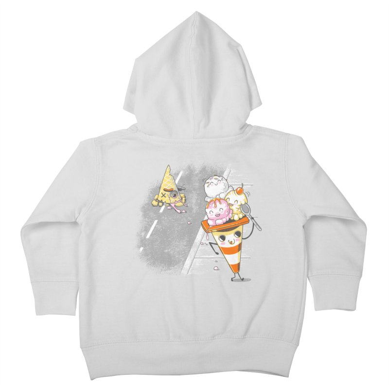 Traffic Cone's Sweet Revenge Kids Toddler Zip-Up Hoody by Made With Awesome