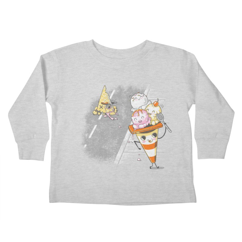 Traffic Cone's Sweet Revenge Kids Toddler Longsleeve T-Shirt by Made With Awesome