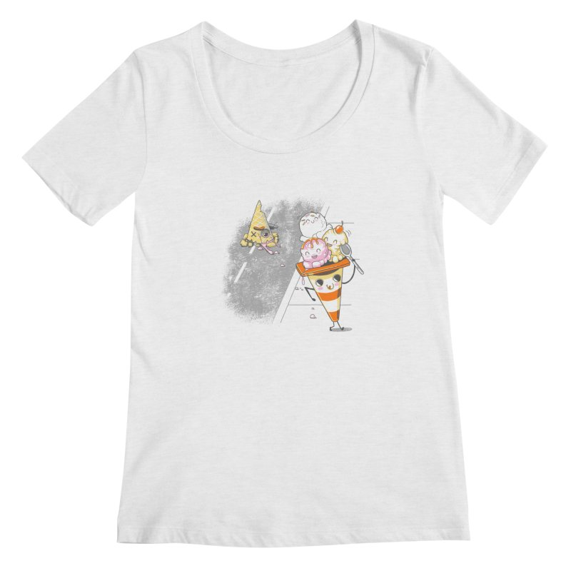 Traffic Cone's Sweet Revenge Women's Regular Scoop Neck by Made With Awesome