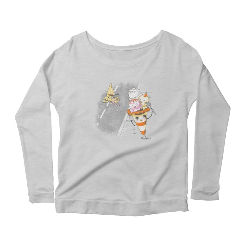 Traffic Cone's Sweet Revenge Women's Scoop Neck Longsleeve T-Shirt by Made With Awesome